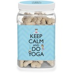 Keep Calm & Do Yoga Dog Treat Jar