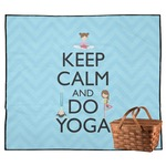 Keep Calm & Do Yoga Outdoor Picnic Blanket