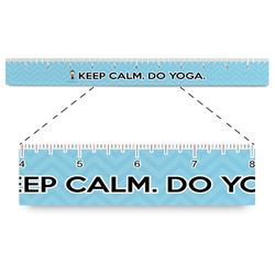"Keep Calm & Do Yoga Plastic Ruler - 12"""