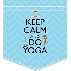 Keep Calm & Do Yoga Iron On Faux Pocket