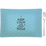 Keep Calm & Do Yoga Glass Rectangular Appetizer / Dessert Plate - Single or Set