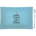 Keep Calm & Do Yoga Glass Rectangular Appetizer / Dessert Plate - Single or Set
