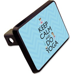 Keep Calm & Do Yoga Rectangular Trailer Hitch Cover - 2""