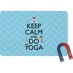Keep Calm & Do Yoga Rectangular Fridge Magnet