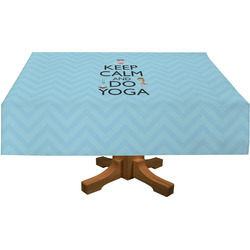 Keep Calm & Do Yoga Rectangle Tablecloth