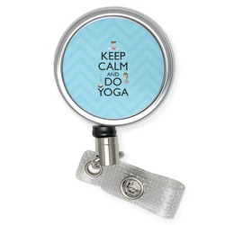 Keep Calm & Do Yoga Retractable Badge Reel