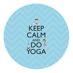 Keep Calm & Do Yoga Round Decal - Custom Size
