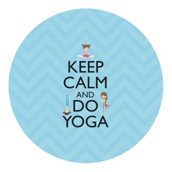 Keep Calm & Do Yoga Round Decal