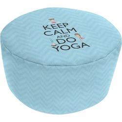 Keep Calm & Do Yoga Round Pouf Ottoman