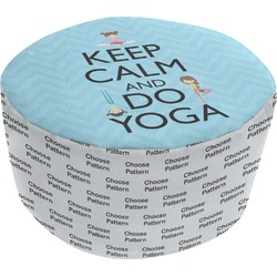 Keep Calm & Do Yoga Round Pouf Ottoman