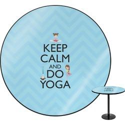 Keep Calm & Do Yoga Round Table