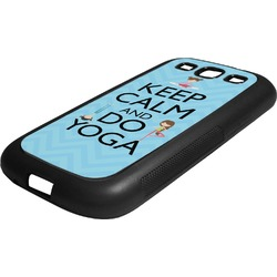 Keep Calm & Do Yoga Rubber Samsung Galaxy 3 Phone Case