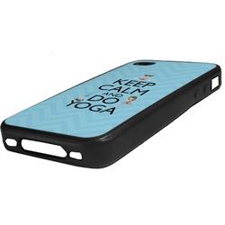 Keep Calm & Do Yoga Rubber iPhone Case 4/4S