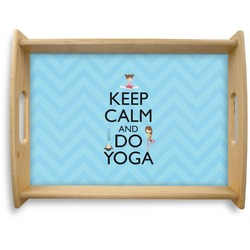 Keep Calm & Do Yoga Natural Wooden Tray - Large