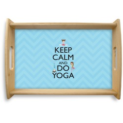 Keep Calm & Do Yoga Natural Wooden Tray - Small