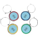 Keep Calm & Do Yoga Wine Charms (Set of 4)