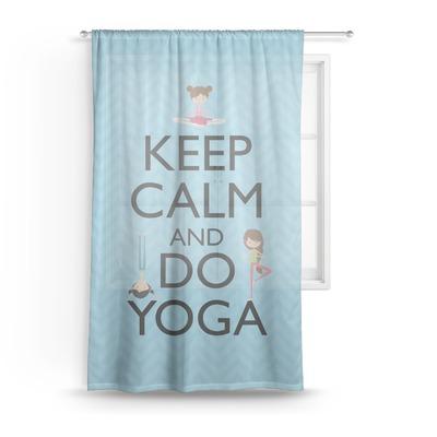 Keep Calm & Do Yoga Sheer Curtains