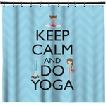 Keep Calm & Do Yoga Shower Curtain