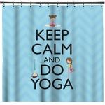Keep Calm & Do Yoga Shower Curtain