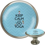 Keep Calm & Do Yoga Cabinet Knob (Silver)