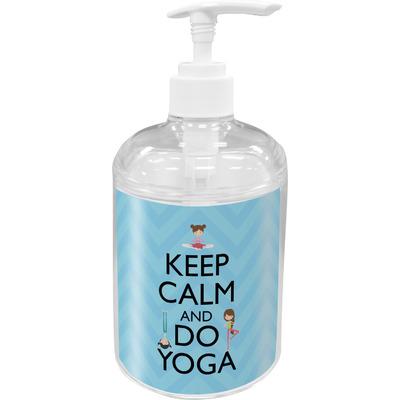 Keep Calm & Do Yoga Acrylic Soap & Lotion Bottle