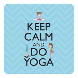 Keep Calm & Do Yoga Square Decal - Custom Size