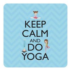 Keep Calm & Do Yoga Square Decal