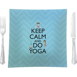 Keep Calm & Do Yoga Square Dinner Plate