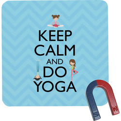 Keep Calm & Do Yoga Square Fridge Magnet