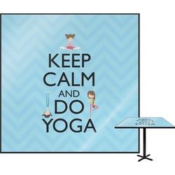 "Keep Calm & Do Yoga Square Table Top - 24"""