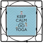Keep Calm & Do Yoga Square Trivet