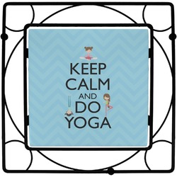 Keep Calm & Do Yoga Square Trivet
