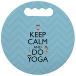 Keep Calm & Do Yoga Stadium Cushion (Round)