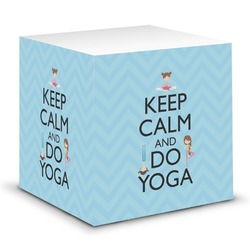 Keep Calm & Do Yoga Sticky Note Cube