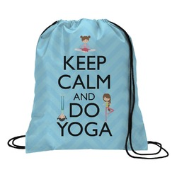 Keep Calm & Do Yoga Drawstring Backpack