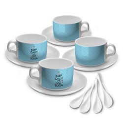 Keep Calm & Do Yoga Tea Cup - Set of 4