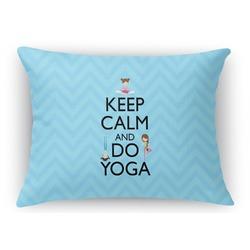 Keep Calm & Do Yoga Rectangular Throw Pillow Case
