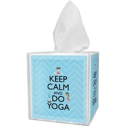 Keep Calm & Do Yoga Tissue Box Cover