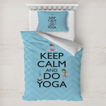 Keep Calm & Do Yoga Toddler Bedding