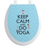 Keep Calm & Do Yoga Toilet Seat Decal