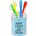 Keep Calm & Do Yoga Toothbrush Holder