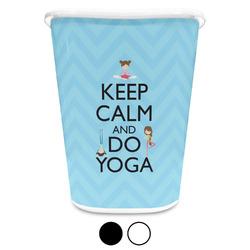 Keep Calm & Do Yoga Waste Basket