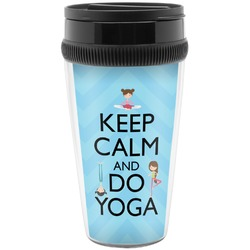 Keep Calm & Do Yoga Travel Mugs