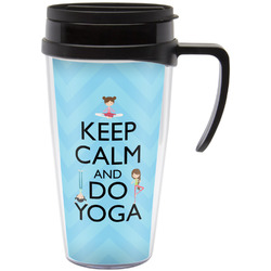 Keep Calm & Do Yoga Travel Mug with Handle