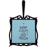 Keep Calm & Do Yoga Trivet with Handle