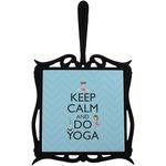 Keep Calm & Do Yoga Trivet with Handle