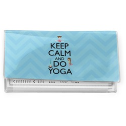 Keep Calm & Do Yoga Vinyl Checkbook Cover