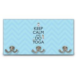 Keep Calm & Do Yoga Wall Mounted Coat Rack