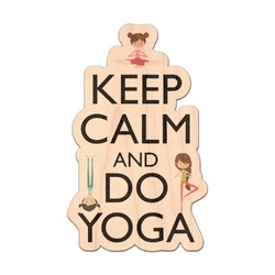 Keep Calm & Do Yoga Genuine Wood Sticker