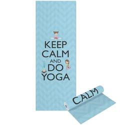 Keep Calm & Do Yoga Yoga Mat - Printable Front and Back